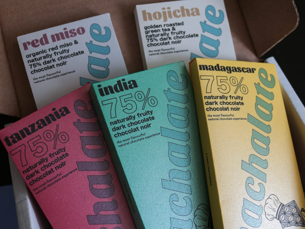 Holiday Gift Ideas Chachalate Classics Bundle, Red Miso Hojicha Tanzania India Madagascar Chocolate